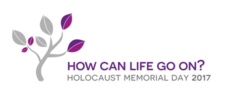 holocaust memorial day 2017 logo a tree with purple leaves