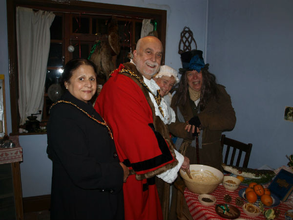 The Mayor of Erewash at Dickensian Christmas Event