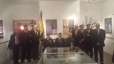 members of the legion in the exhibition